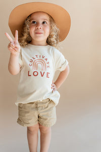 POLISHED PRINTS CULTIVATE LOVE KIDS TEE'S