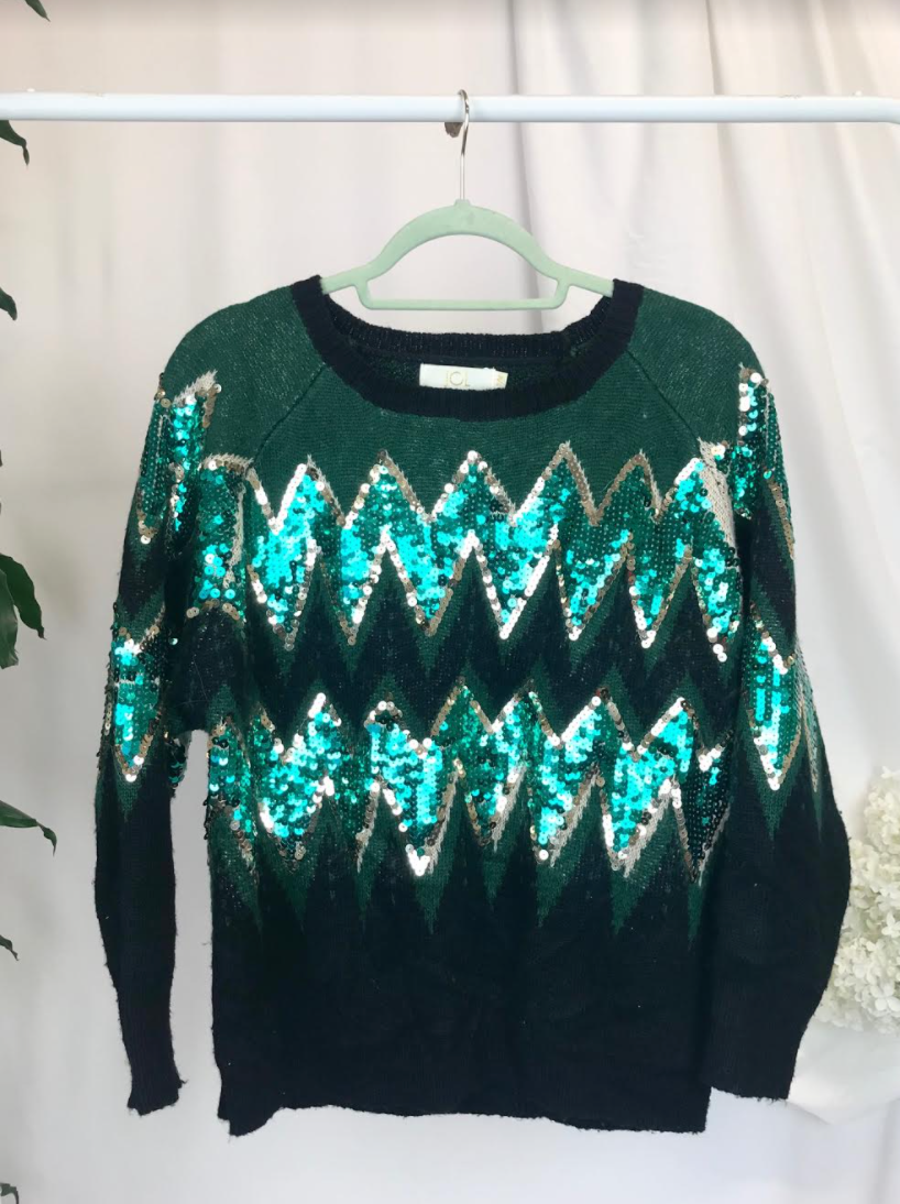 Sequin Knit Jumper | Size 10