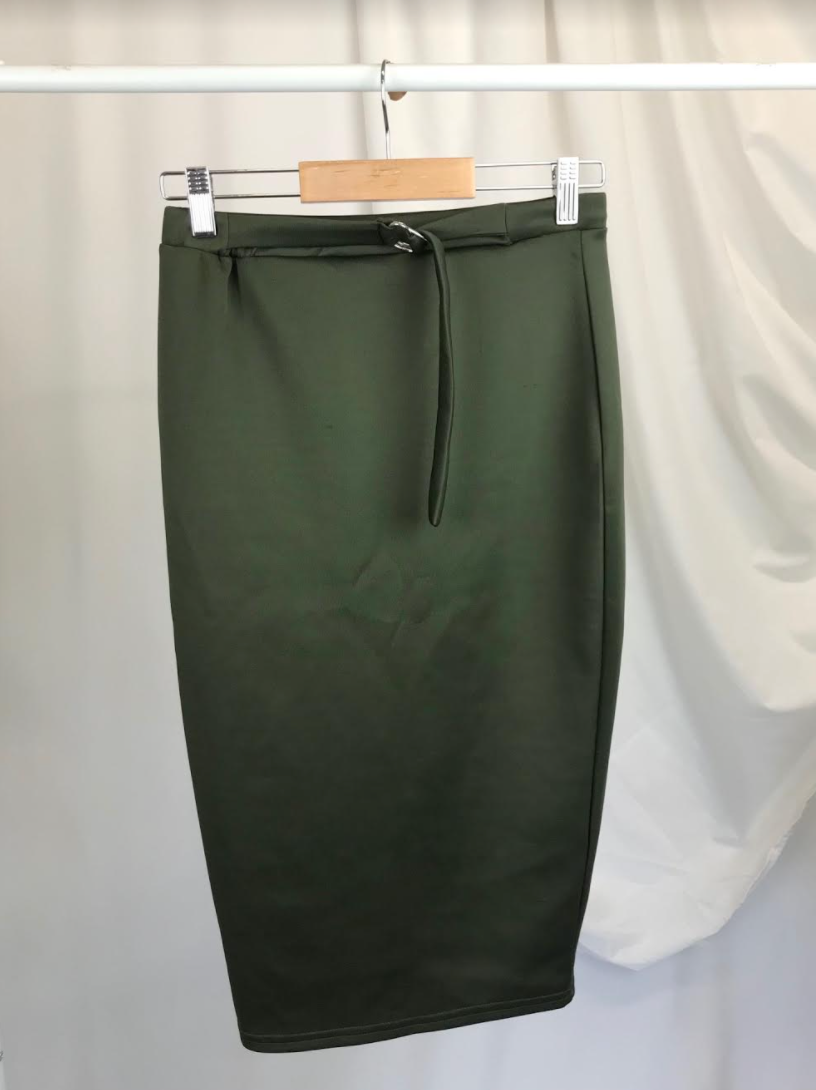 Khaki Bodycon Midi Skirt New With Tags | Size 10