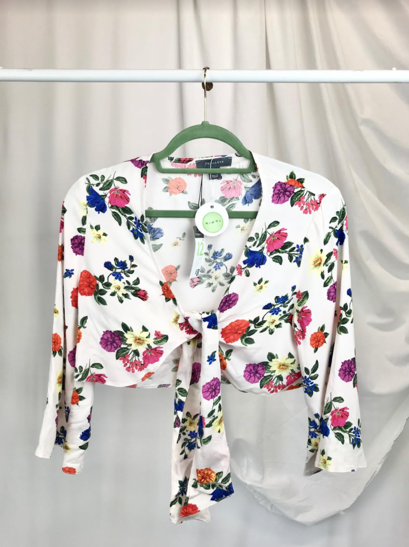 Floral Tie Front Top New With Tags | Size 12