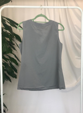 Load image into Gallery viewer, Banana Republic Sleeveless Grey Blouse | Size 12