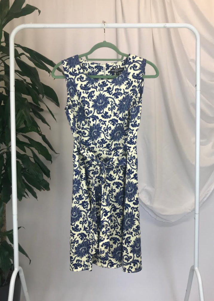 Marc Angelo Printed Dress | Size 14