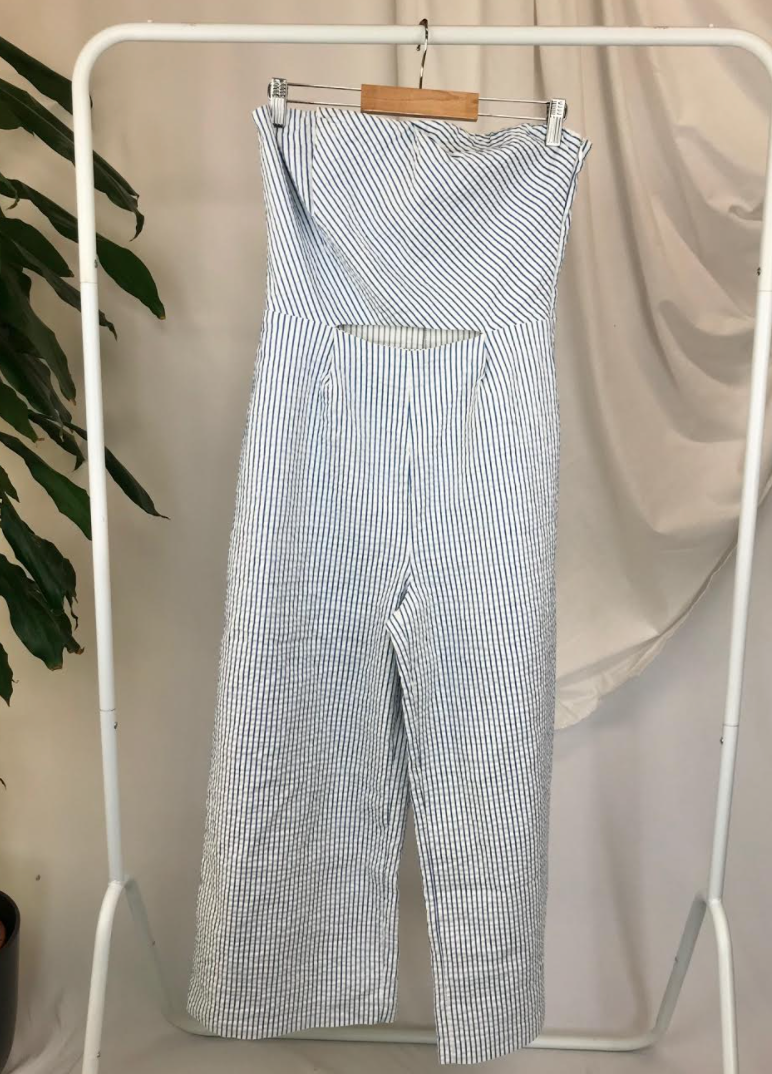 Zara Stripped Jumpsuit | Size 14