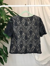 Load image into Gallery viewer, Warehouse Lace Overlay Top | Size 14