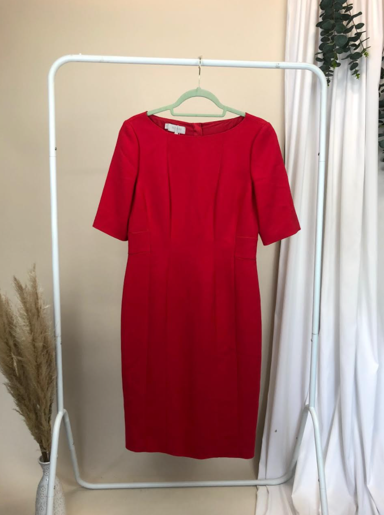 Hobbs Red Midi Dress New With Tags | Size 12