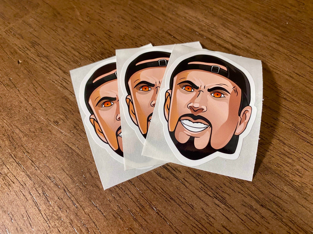 Vinyl Pyro Stickers (Pack of 3)
