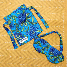Load image into Gallery viewer, Turquoise Sleep Mask & Matching Pouch