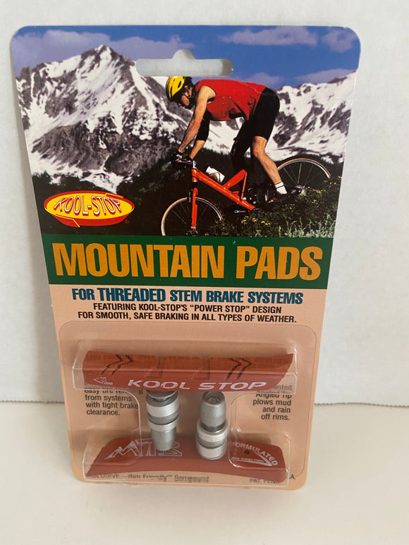 Kool Stop Bicycle Mountain Bike Threaded brake pads for V-brake Salmon (PAIR)