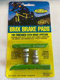 Kool Stop Bicycle BMX Threaded brake pads for V-brake Lime Green (PAIR)