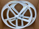 Premium 29″ BMX CNC 5-Spoke Alloy Bicycle Sealed Wheel set, White