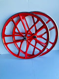 29″ BMX 10-Spoke CNC Alloy Rims Bicycle Sealed Wheel Sets, Red