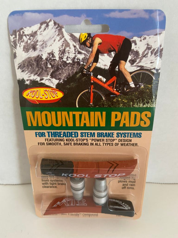 Kool Stop Bicycle Mountain Bike Threaded brake pads for V-brake Dual Compound (PAIR)