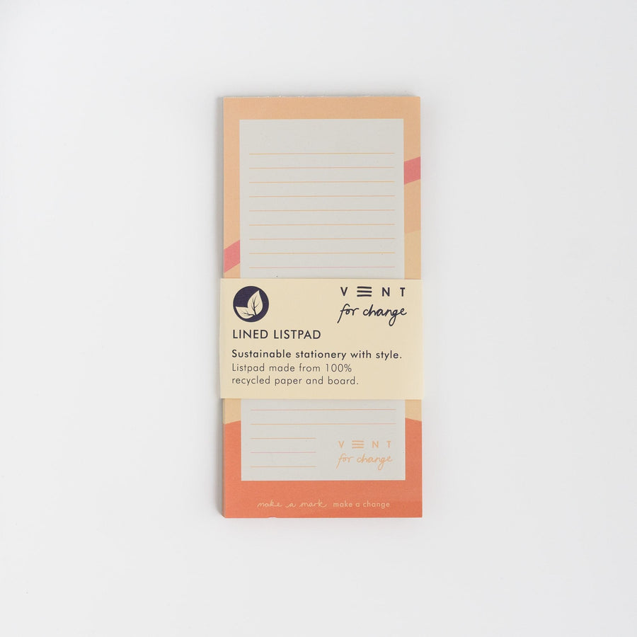Recyled Paper Ideas List Pad - Pink