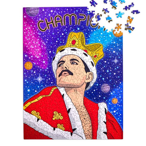 "Freddie Mercury Champion Puzzle 18""x24"" 500 Pieces"