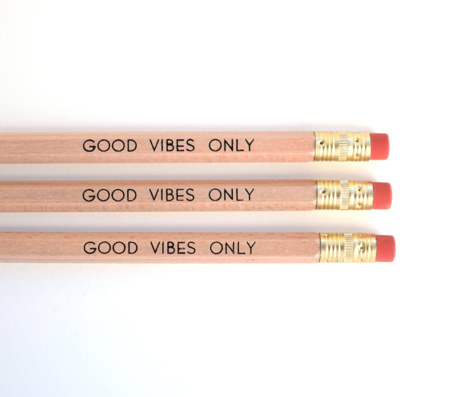 Pencil - Good Vibes Only, 3 pack