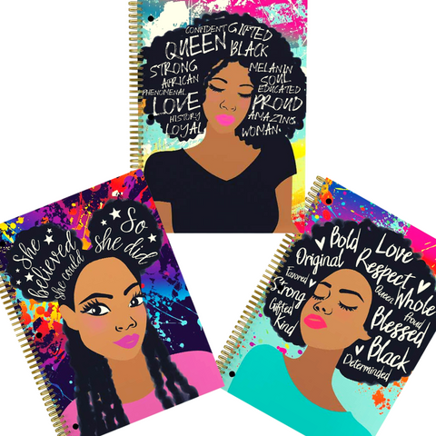 Black Girl Magic Journal Combo Pack, Journal 1, 2 & 3