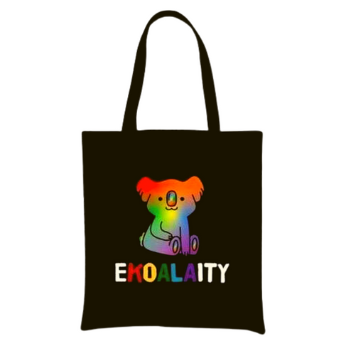 Black Canvas Tote - Ekoality