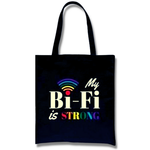Black Canvas Tote - Bi-Fi