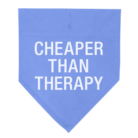 Cheaper Than Therapy Pet Bandana, Large/X Large