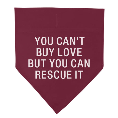 Can't Buy Love Pet Bandana, Large/X Large