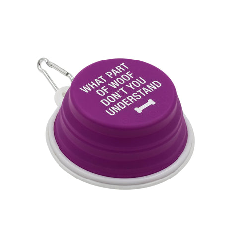 Silicone Pet Bowl, Woof