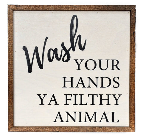 Wall Art - Filthy Animal, Large