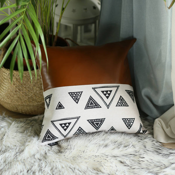 Vegan Leather Pillow Cover