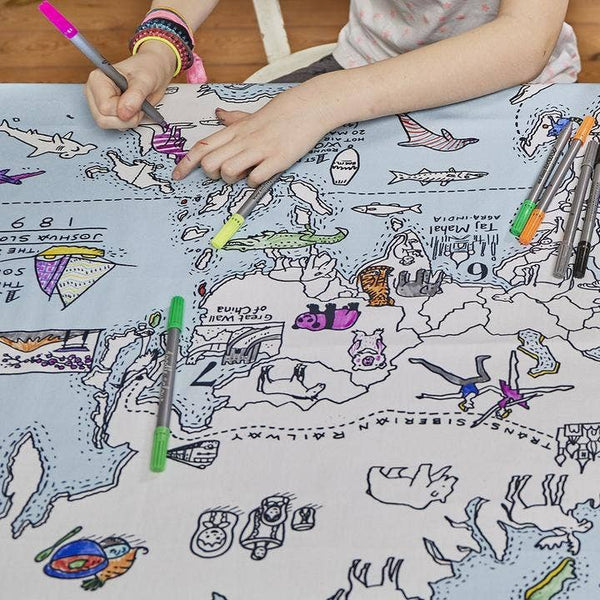 World Map Tablecloth