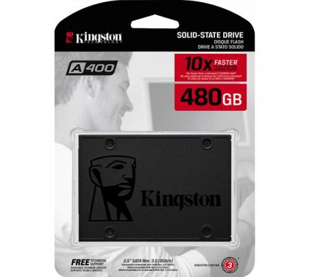 Disco Sólido SSD Kingston 480GB A400 500MB/s2