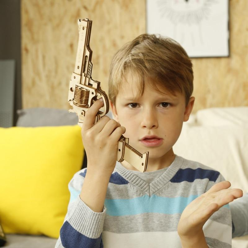 DIY Wooden Building Blocks Gun - Xmas Shop