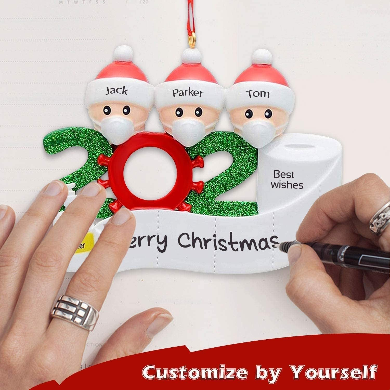 2020 Personalized Name Christmas ornaments (Family of 3) - Xmas Shop