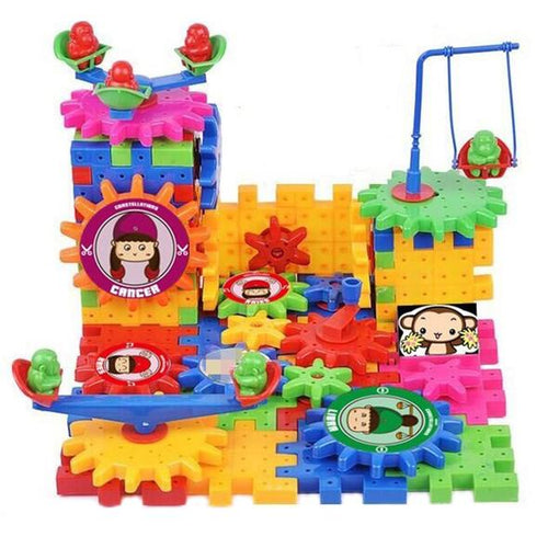 Electric Gears 3D Building Block 81 Piece Set - Xmas Shop