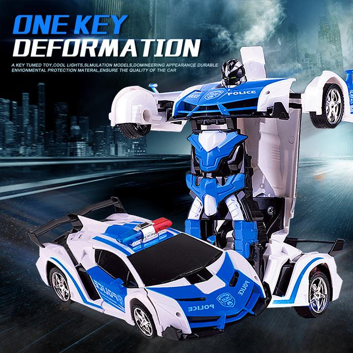 Remote Control Robot One Button Transformation Car - Xmas Shop