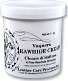 Ray Holes Vaquero Rawhide Cream® Cleans and Conditions