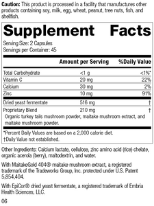 Epimune Complex, 90 Capsules, Rev 06 Supplement Facts