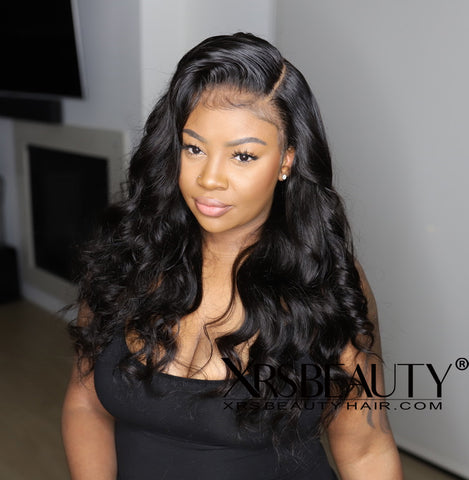 200 Density 20 Inches Body Wave 13x6 Clear Lace Human Hair Wig by Ashley Bedeck