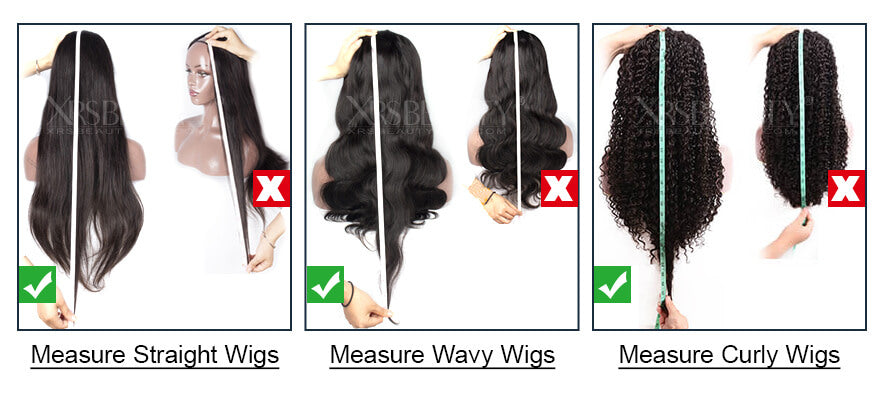how to measure wig length