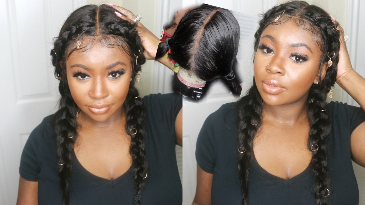 how to style a wig - Dutch braids style