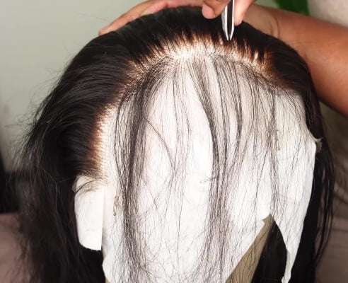pluck human hair lace wig hairline