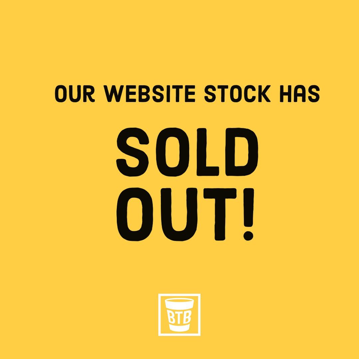 Our Website Stock Has Sold Out!