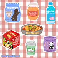 Himalayan Sweet & Spicy Snacks Sticker Pack 7pc