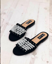 Load image into Gallery viewer, BRUNE BLACK SANDALS