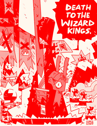 DAGGER DAGGER! Death To the Wizard Kings Riso Print