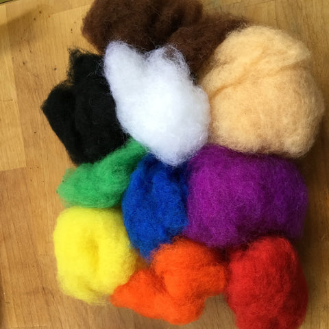 Rainbow-plus wool pack----- New Sale price!