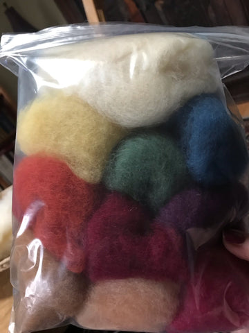 Needle-Felting Starter Kit featuring organic plant-dyed wool