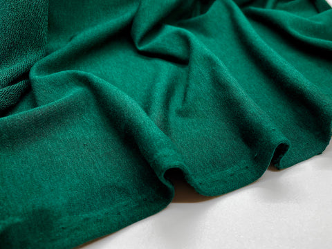 Bamboo and Cotton French Terry - Pine Green