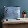 Metallic Magpie Belinda Organizer Bag #LB902 Ice Blue