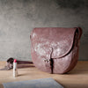 Metallic Magpie Sara Saddle Bag #LB903 Taupe
