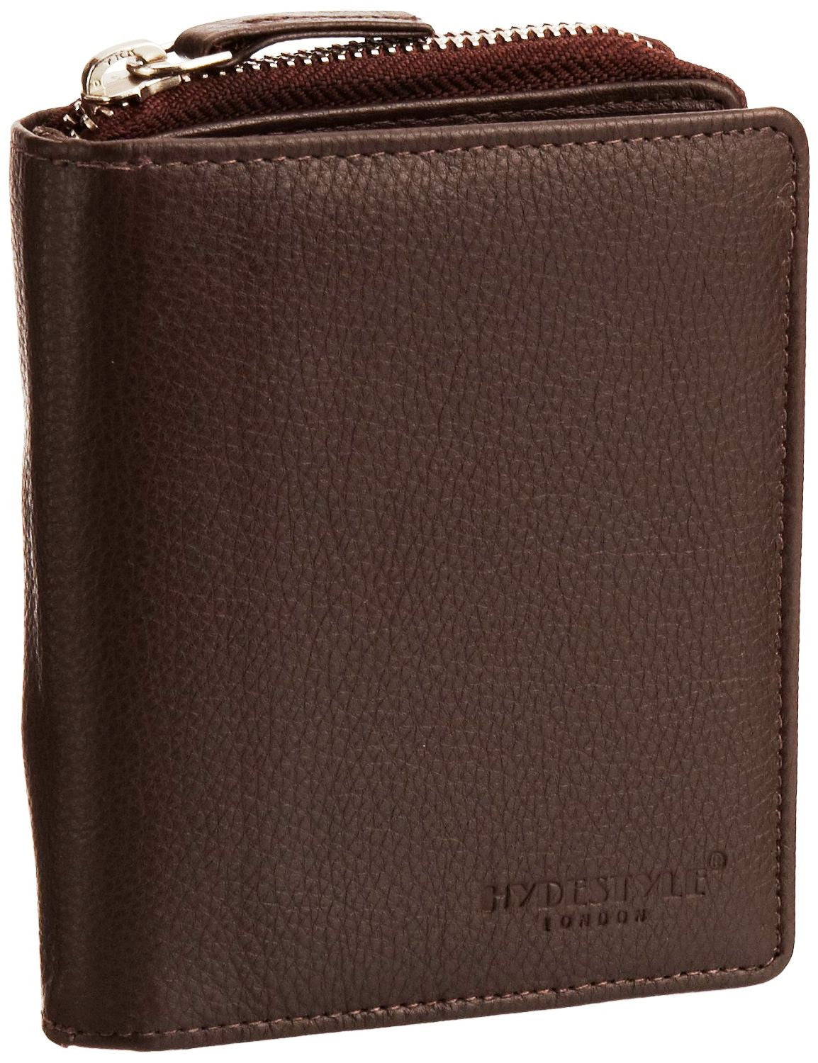 Pratico - women leather trifold wallet #LW01 Brown
