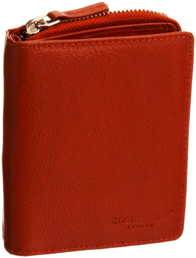 Pratico - women leather trifold wallet #LW01 Red